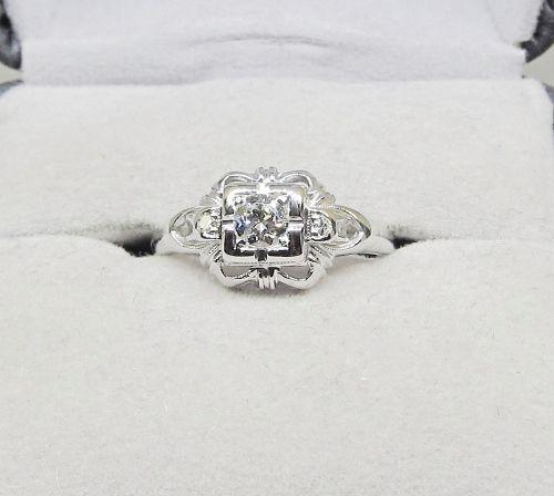 Diamond Ring Openwork 18Kt Gold