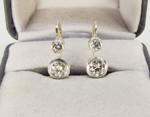 Diamond Earrings with Leaver Backs