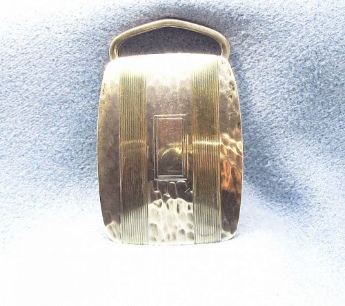 Belt Buckle Sterling Silver and 14Kt Gold