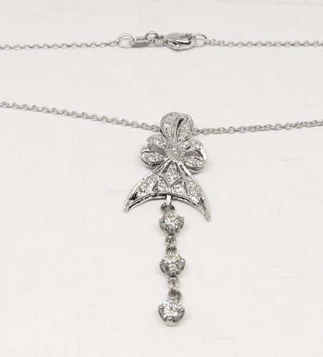 Platinum and Diamond Pendant