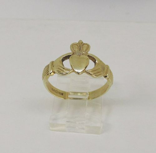 Gold Claddach Ring 14Kt British Marks