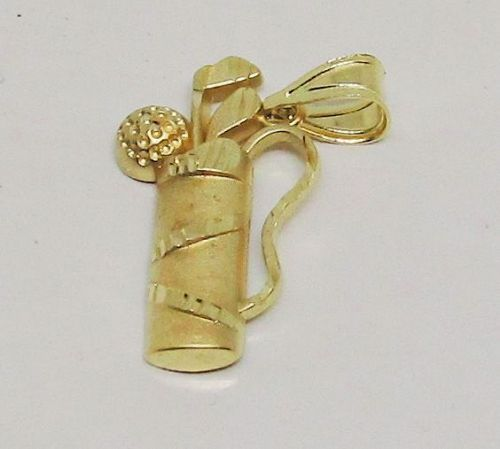 Golf Bag Charm 14Kt Gold