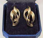 Cascading Half Hoops Earrings 14Kt Gold