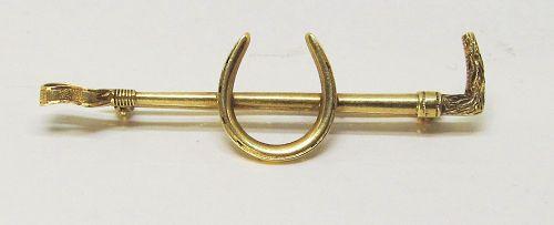14Kt Gold Equestrian Pin