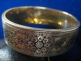 14 Kt Victorian Enamel Bangle Bracelet
