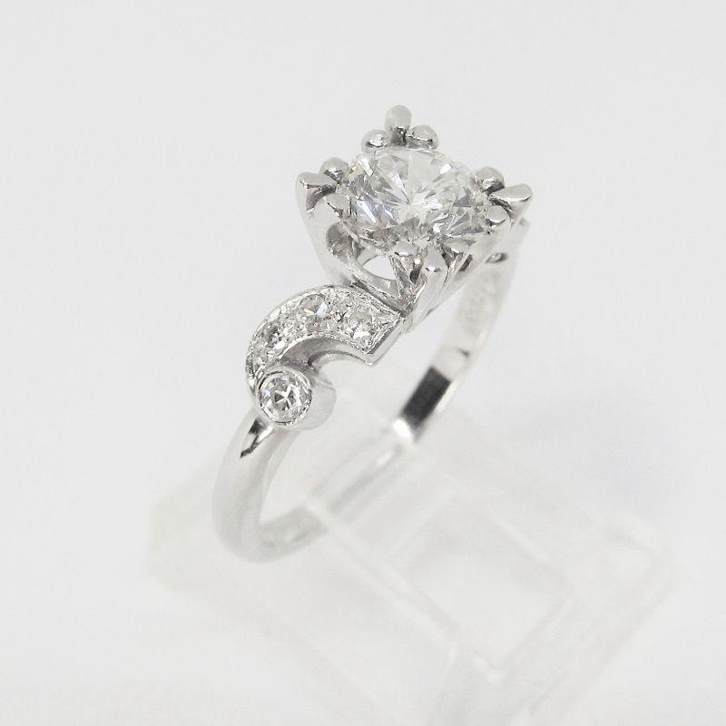 1920's Platinum and Diamond Engagement Ring