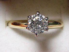 Edwardian Style Gold and Platinum Engagement Ring