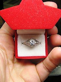 Platinum and Diamond 1920's Engagement Ring