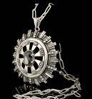 massive Los Ballesteros Mexican silver citrine Pendant Necklace