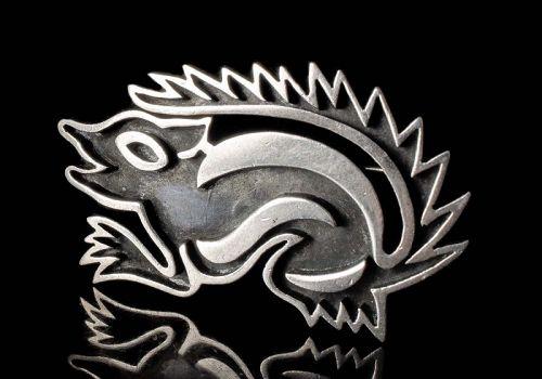 Antonio PIneda Mexican 970 silver figural Pin Brooch