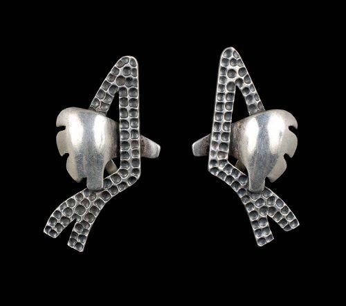Salvador Teran Mexican silver modernist Earrings