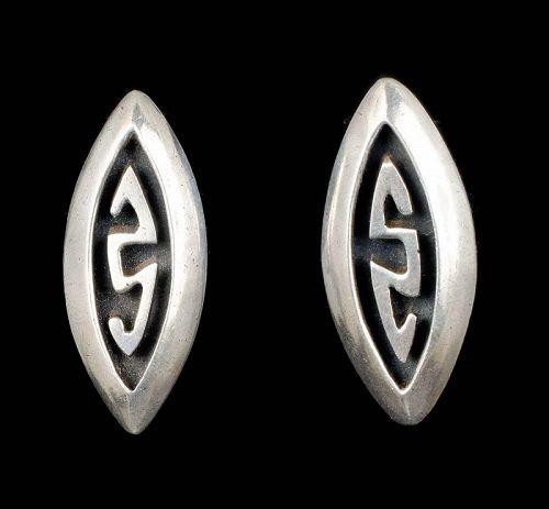 Taller Taxco Mexican silver Earrings in a Salvador Teran design