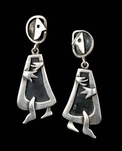 Sigi Pineda Mexican silver surrealist humans dangle Earrings
