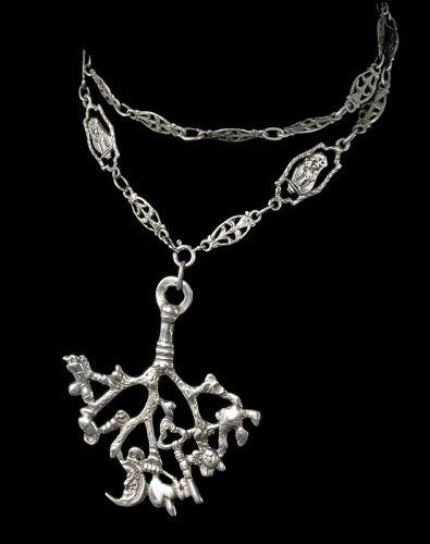 Flli Coppini 800 Italian silver cimaruta Pendant Necklace