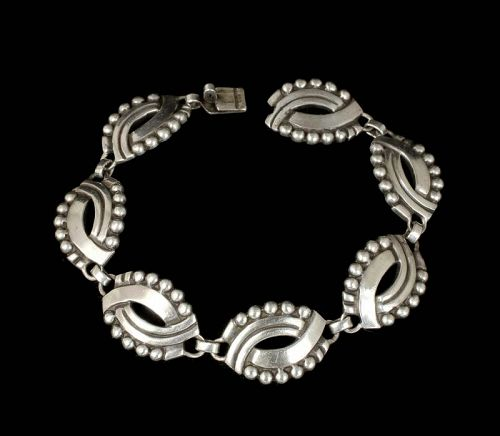 "Hector Aguilar Mexican 940 silver ""masks"" Bracelet"
