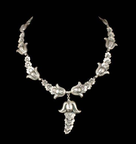 ca 1950 Marcel Boucher Parisina Mexican silver Necklace