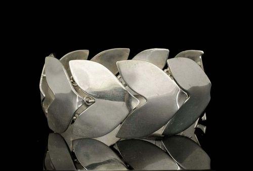 Fred Davis Mexican Deco silver chevron Bracelet