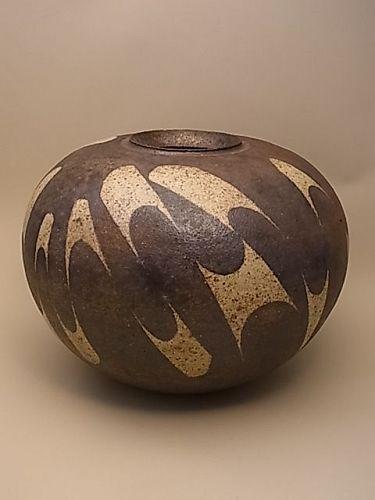 Japanese 20-21st Century Lg Ceramic Vase by Ito Shin