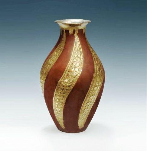 Japanese Mid 20th Century Bronze Vase by Kurita Yukio