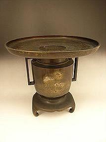 Japanese Meiji Period Kametani Bronze Usubata