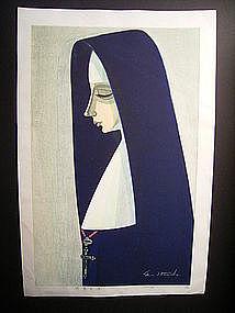 Japanese 20th C. Woodblock Print by Ikeda Shu