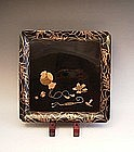 Japanese L. 19th Century Set of 5 Lacquer Trays