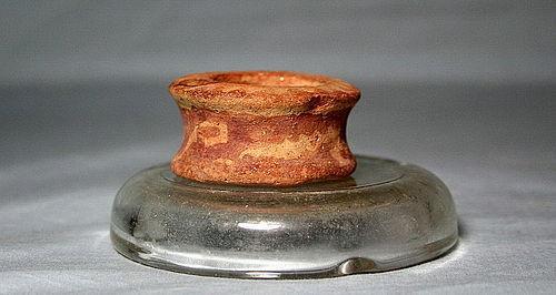 Hohokam Red on Buff miniature clay censor ca. 1000 ad. No Restoration
