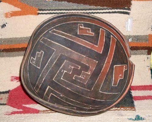 Anasazi / Cedar Creek large polychrome bowl ca. 1300 ad.