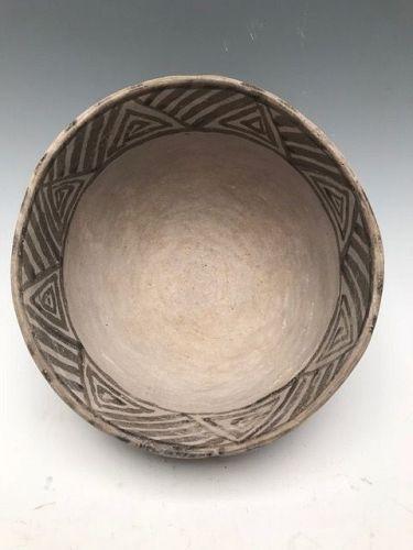 Anasazi / Mesa Verde black on white bowl ca 1100 to 1300 ad.