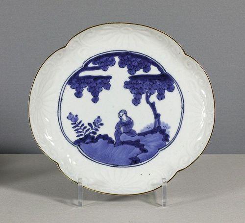 A Japanese Arita Mokko Dish, 18th Century.