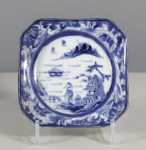 An Arita Blue & White Square Dish, 18th ~ 19th century. #2