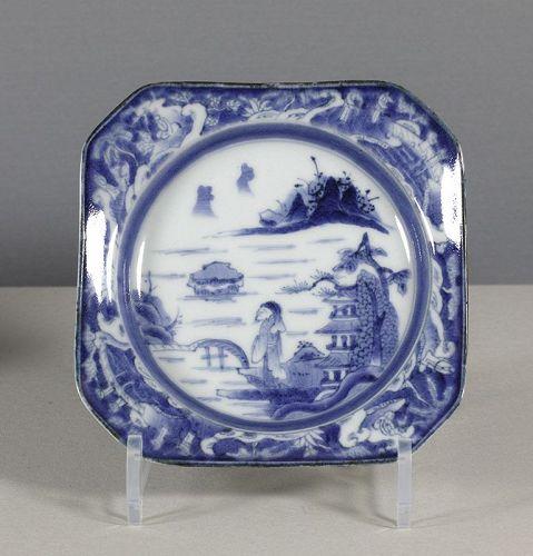 An Arita Blue & White Square Dish, 18th ~ 19th century. #4
