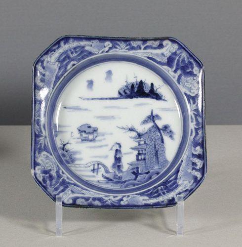 An Arita Blue & White Square Dish, 18th ~ 19th century. Chip. #5