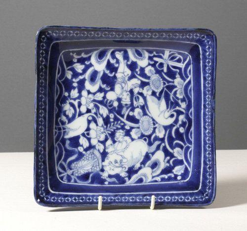 High Quality Japanese Square Dish, 1790~1820.