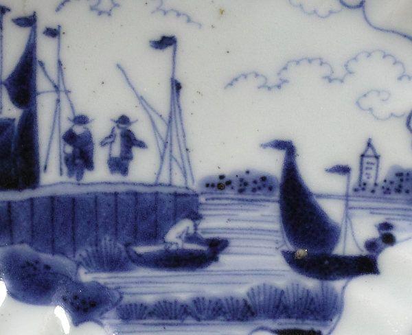 Arita Dish with Frederik Van Frytom Harbour Scene, 1680~1700