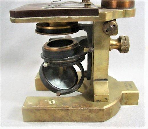 Rare Lacquered Brass Microscope F. Koritska Milano