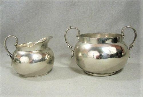 Tiffany and Company Sterling Creamer and Sugar Bowl