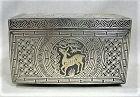 Josean Dynasty Silver Inlay Iron Box - Fine Condition