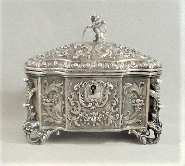 Silver Hanau Germany Rococo Casket - ca 1895 - George Roth