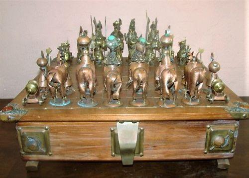 Rare Figural Chess Set - 1970s - M. & A. Nowakowscy -Battle of Vienna