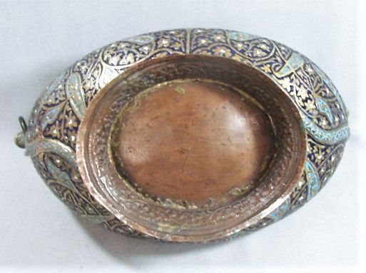 Kashmir Kashkul - Enameled and Gilded - 19th century