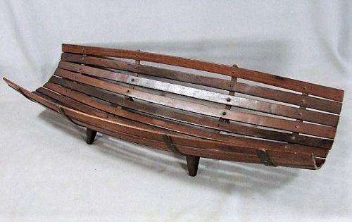 Mid Century Modern Jacaranda Rosewood Slatted Basket