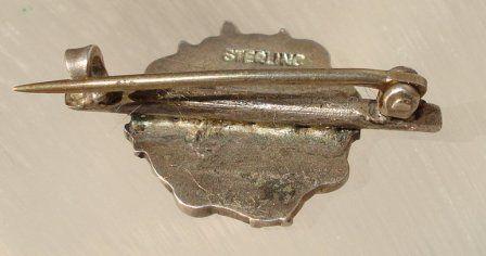 Silver Art Nouveau Lady Pin