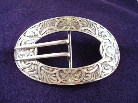 Large Art Nouveau Silver Buckle