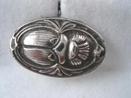 Art Nouveau Silver Scarab Cuff