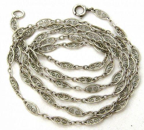 Fancy Sterling Edwardian Chain