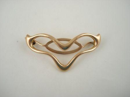 Gold Art Nouveau Barrette