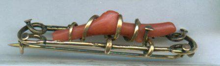 Victorian Coral Pin