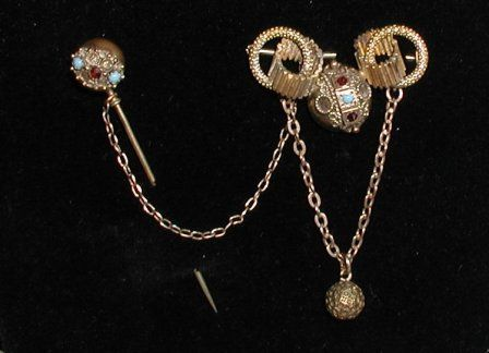 Victorian pin with stickpin