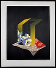 Japanese Lithograph Print Shuji Wako Woodblock Puzzle